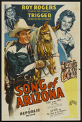 "Movie Posters:Western, Song of Arizona (Republic, 1946). One Sheet (27"" X 41""). Western...."