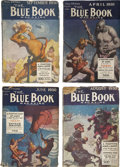 Books:Periodicals, Blue Book (McCall, 1930) Edgar Rice Burroughs Mars Group.... (Total: 4 Items)