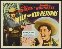 """Billy the Kid Returns (Republic, 1938). Lobby Card Set of 8 (11"""" X 14""""). Western.... (Total: 8 Items)"""