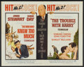 """Movie Posters:Hitchcock, The Man Who Knew Too Much/The Trouble with Harry Combo (Paramount,R-1963). Half Sheet (22"""" X 28""""). Hitchcock...."""
