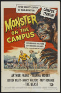 """Movie Posters:Horror, Monster on the Campus (Universal International, 1958). One Sheet (27"""" X 41""""). Horror...."""