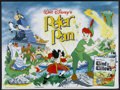 "Movie Posters:Animated, Peter Pan (Buena Vista, R-1960s). British Quad (30"" X 40""). Animated...."