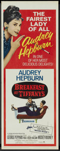 "Movie Posters:Romance, Breakfast At Tiffany's (Paramount, R-1965). Insert (14"" X 36"").Romance...."