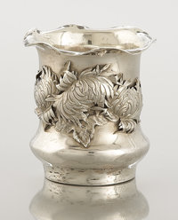 AN AMERICAN SILVER TOOTHPICK HOLDER George W. Shiebler, New York, New York, circa 1900 Marks: (winged S), ST