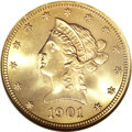 Liberty Eagles, 1901 $10 MS67 NGC....