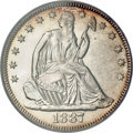 Seated Half Dollars, 1887 50C MS67 PCGS....