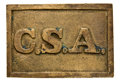 Military & Patriotic:Civil War, Pristine, Untouched Condition Atlanta Arsenal Rectangular CSA Confederate Waist Belt Plate. 47mm X 69 mm. As fine an example...
