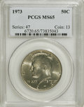 Kennedy Half Dollars: , 1973 50C MS65 PCGS. PCGS Population (60/128). NGC Census: (41/28).Mintage: 64,964,000. Numismedia Wsl. Price for NGC/PCGS ...