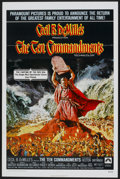 """Movie Posters:Historical Drama, The Ten Commandments (Paramount, R-1972). One Sheet (27"""" X 41"""") andLobby Card Set of 8 (11"""" X 14""""). Historical Drama.... (Total: 9Items)"""