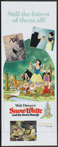 "Movie Posters:Animated, Snow White and the Seven Dwarfs (Buena Vista, R-1975). Insert (14"" X 36""). Animated...."