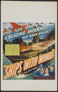 "Movie Posters:War, Ships with Wings (United Artists, 1942). Window Card (14"" X 22"").War...."