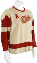 Hockey Collectibles:Uniforms, 1957-58 Marcel Pronovost Game Worn Jersey....