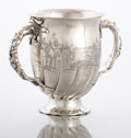 Silver Holloware, American:Cups, AN AMERICAN SILVER LOVING CUP. Gorham Manufacturing Co., Providence, Rhode Island, 1885. Marks: (lion-anchor-G), STERLING,...