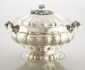 Silver & Vertu:Hollowware, AN ITALIAN SILVER AND SILVER GILT SOUP TUREEN. Unidentified maker, Alessandria, Italy, circa 1950. Marks: 25 AL (in loze...