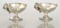 Silver Holloware, American:Open Salts, A PAIR OF AMERICAN SILVER MASTER SALTS. Tiffany & Co., NewYork, New York, circa 1860. Marks: TIFFANY & CO., 14917,532, S... (Total: 2 Items)