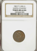 Civil War Patriotics, NGC-Certified Patriotic Trio.... (Total: 3 tokens)