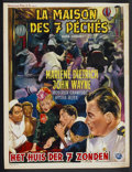 "Movie Posters:Adventure, Seven Sinners (Universal, 1940s). First Belgian Release Poster (14"" X 18.5""). Adventure...."
