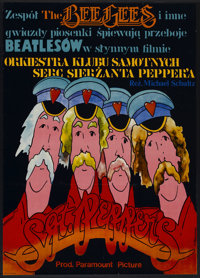 """Sgt. Pepper's Lonely Hearts Club Band (Paramount, 1978). Polish One Sheet (26"""" X 36.5""""). Rock and Roll"""
