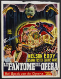 "Movie Posters:Horror, Phantom of the Opera (Universal, 1940s). First Belgian ReleasePoster (13.75"" X 18.25""). Horror...."