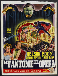 "Phantom of the Opera (Universal, 1940s). First Belgian Release Poster (13.75"" X 18.25""). Horror"