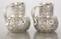 Silver Holloware, American:Pitchers, A PAIR OF AMERICAN SILVER WATER PITCHERS. Whiting ManufacturingCo., New York, New York, circa 1880. Marks: WHITING MF'G C...(Total: 2 Items)
