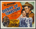 "Movie Posters:Western, Sheriff of Tombstone (Republic, 1941). Half Sheet (22"" X 28"") Style A. Western...."