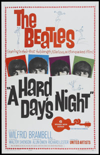 """A Hard Day's Night (United Artists, 1964). One Sheet (26.75"""" X 41.5""""). Rock and Roll"""