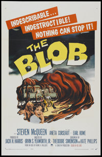 """The Blob (Paramount, 1958). One Sheet (27"""" X 41.5""""). Science Fiction"""
