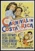 "Movie Posters:Musical, Carnival in Costa Rica (20th Century Fox, 1947). One Sheet (27"" X 41""). Musical...."