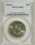 Kennedy Half Dollars: , 1984-D 50C MS66 PCGS. PCGS Population (79/12). NGC Census: (35/8).Mintage: 26,262,158. Numismedia Wsl. Price for NGC/PCGS ...