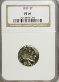 Proof Buffalo Nickels: , 1937 5C PR66 NGC. NGC Census: (458/349). PCGS Population (734/382).Mintage: 5,769. Numismedia Wsl. Price for NGC/PCGS coin...