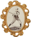 Baseball Cards:Singles (Pre-1930), 1915 PM1 Ornate Frame Pins Frank Chance....