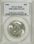SMS Kennedy Half Dollars, 1966 50C Double Die Obverse SMS MS66 PCGS. FS-103. PCGS Population(618/770). NGC Census: (490/692). Mintage: 2,200,000. Nu...
