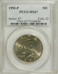 Kennedy Half Dollars: , 1993-P 50C MS67 PCGS. PCGS Population (97/0). NGC Census: (138/2).Mintage: 15,510,000. Numismedia Wsl. Price for NGC/PCGS ...