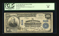 National Bank Notes:West Virginia, Huntington, WV - $10 1902 Plain Back Fr. 624 The First HuntingtonNB Ch. # 3106. ...
