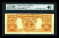 Error Notes:Large Size Inverts, Fr. 1187 $20 1922 Gold Certificate PMG Extremely Fine 40....