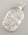 Silver Holloware, American:Flasks, AN AMERICAN SILVER FLASK. Gorham Manufacturing Co., Providence,Rhode Island, 1881. Marks: (lion-anchor-G), STERLING, 76,...