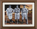 Baseball Collectibles:Others, 2004 Joe Jackson, Ty Cobb and Napoleon Lajoie Original Artwork byGrant Smith. ...