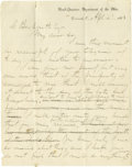 Autographs:Military Figures, Great Content War-Dated Autograph Letter Signed by Ambrose Burnside Railing Against Confederate General Simon B. Buckner Over ...