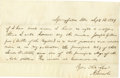 "Autographs:U.S. Presidents, Partial Abraham Lincoln Autograph Letter Signed to an unknown party; 1 page, 7.75"" x 5"", Springfield, Ill., Sept. 12, 1849. ..."