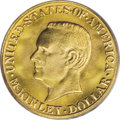 Commemorative Gold: , 1917 G$1 McKinley MS66 PCGS. Much scarcer than the 1916 McKinleyissue, especially in the middle Mint State grades. This el...