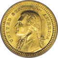 Commemorative Gold: , 1903 G$1 Louisiana Purchase/Jefferson MS66 PCGS. The firstcommemorative gold dollars, portraying either Jefferson or McKin...