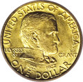 Commemorative Gold: , 1922 G$1 Grant with Star MS64 PCGS. While there is no difference inthe relative scarcity of the With Star and No Star Gran...