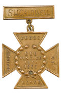 "Military & Patriotic:Civil War, Confederate Surgeon Major Samuel Houston Caldwell's ""Southern Cross of Honor"". The Confederate ""Southern Cross of Honor"" was..."