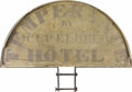 "Advertising:Signs, Rare Early 19th Century ""Folk Art"" Sign for Temperance Hotel Thismassive double-sided sign came from one of many ""Temperanc..."