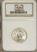 1923 25C MS66 ★ NGC. A well struck and amazing example that at first appears untoned. Gradually, one observes the slight...