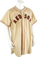 Baseball Collectibles:Uniforms, 1949-51 Boston Red Sox Game Worn Jersey....