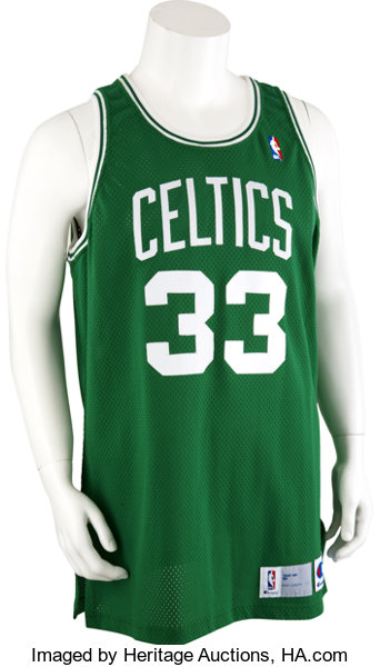 4fab55bdc14 1991-92 Larry Bird Game Worn Jersey.... Basketball Collectibles ...