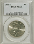Kennedy Half Dollars: , 2001-D 50C MS68 PCGS. PCGS Population (45/0). NGC Census: (5/0).Numismedia Wsl. Price for NGC/PCGS coin in MS68: $70. (#6...