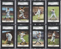 Baseball Cards:Sets, 1961 Golden Press Baseball SGC-Graded Complete Set (33). ...